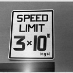 Geeky speed limit sign at MIT