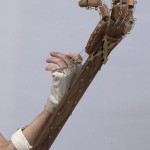 Side view of mechanical hand