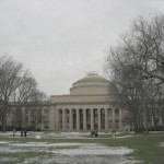 Wright Brothers plane replica on Great Dome at MIT