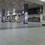Empty LIRR Concourse at Penn Station New York subway system