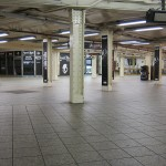 Empty New York Subway system before Hurricane Sandy