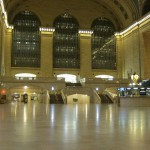 Empty Grand Central Terminal in New York Subway System before Hurricane Sandy
