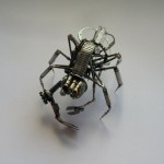 Wonderful insect made from watch parts