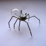 Spider made from electronic and watch parts