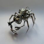 Creature made from watch parts