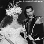 Jane Seymour and Freddie Mercury