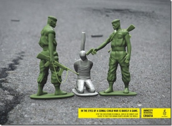 Amnesty International is known for using shock tactics in their ads and this one is no exception