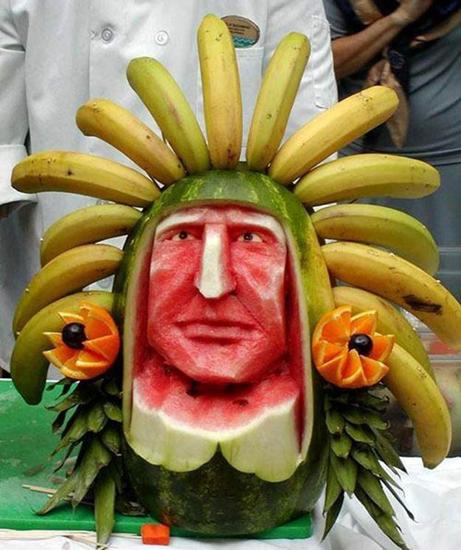 Indian head food art