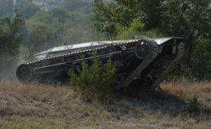 U.S. Army Ripshaw unmanned tank