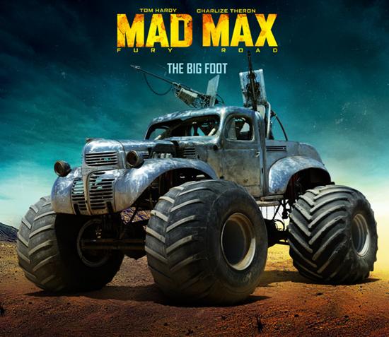 Rictus Erectus's Bigfoot car from Mad Max: Fury Road