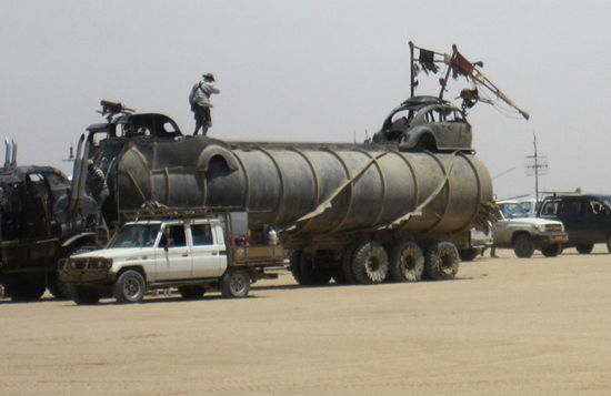 Furiosa's War Rig during filming of Mad Max Fury Road