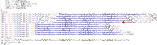HTML behind Yelp's blog