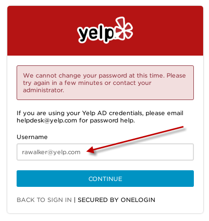 Yelp's login retrieval page converts enumerated WordPress user accounts to their corresponding Yelp email address