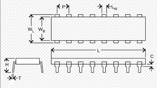 How to read surface mount IC chip dimensions