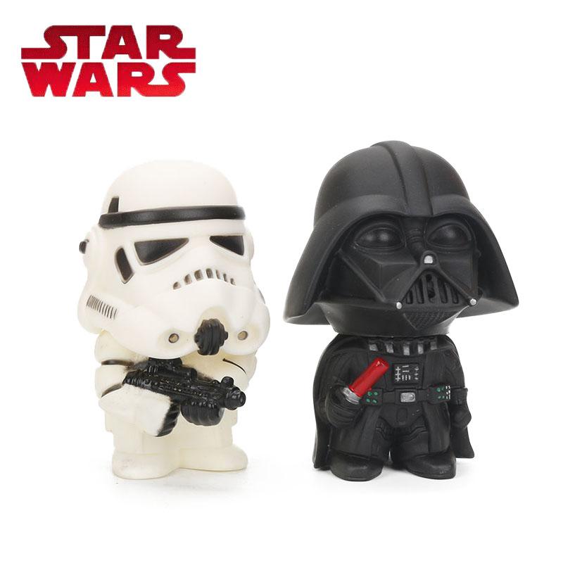 9cm Star Wars Toys Master Yoda Darth Vader Stormtrooper Action Figure The Force Awakens Jedi Yoda