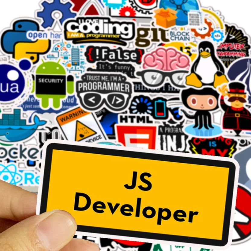 big bag of computer programming stickers js developer block chain android