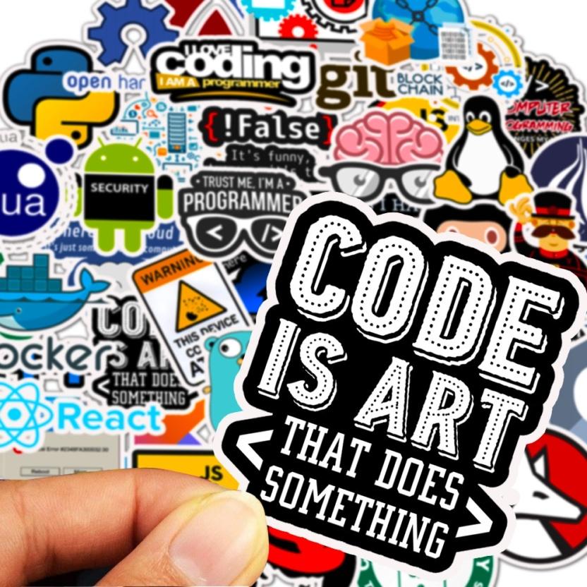 big bag of computer programming stickers penguin code art