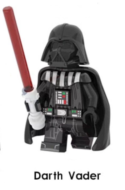 star wars block set darth vader