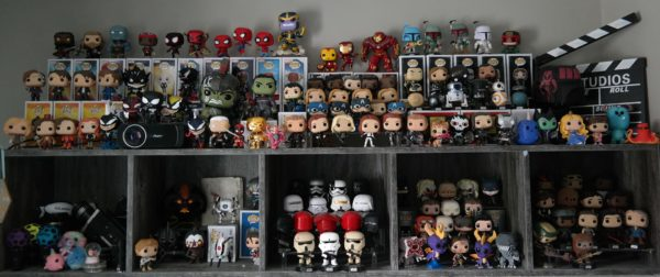 A collection of Funko Pop Vinyl Figures