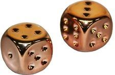 Chessex: 16mm D6 Copper Plated Dice (pair) close