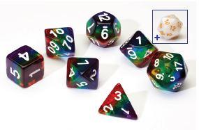 Rainbow Translucent 7-die set
