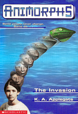 Popular series from the 1990's, Animorphs, spinning off into a feature film and graphic novel.