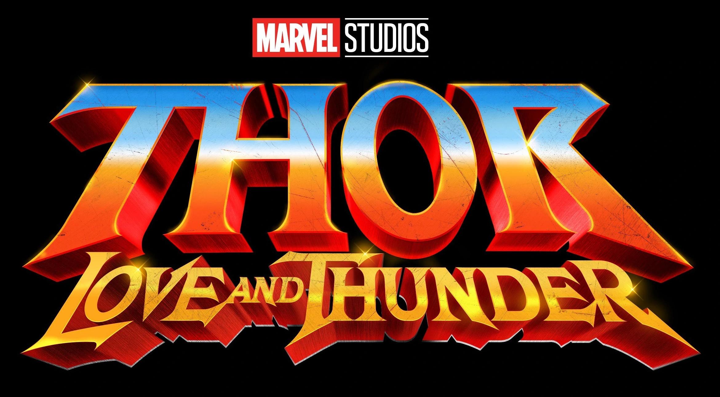 Thor Love and Thunder Marvel Movie Logo