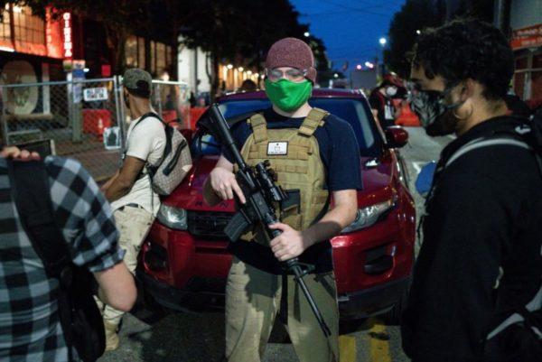 Armed man at Capitol Hill Autonomous Zone