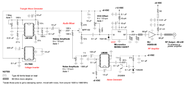 cellphone jammer circuit diagram