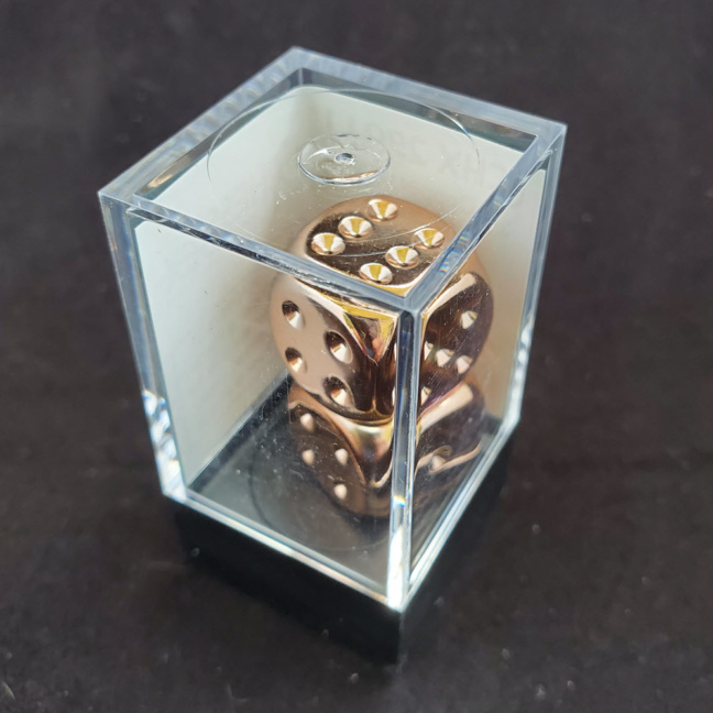 Chessex: 16mm D6 Copper Plated Dice (pair)