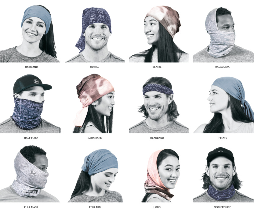 examples of how to wear a balaclava gaiter neck tube