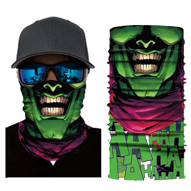 Realistic Superhero face mask - face shield, gaiter, balaclava