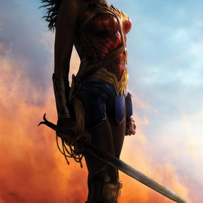 Wonder Woman Poster - Power Grace Wisdom Wonder MightyPrint Wall Art