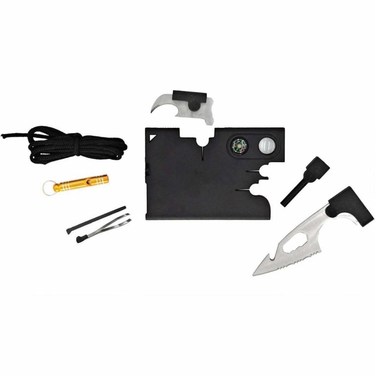 18 in 1 survival tool on a card - credit card sized survival tool kit