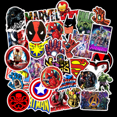 50 pieces Waterproof Superhero Stickers - Marvel Stickers and DC Stickers 2