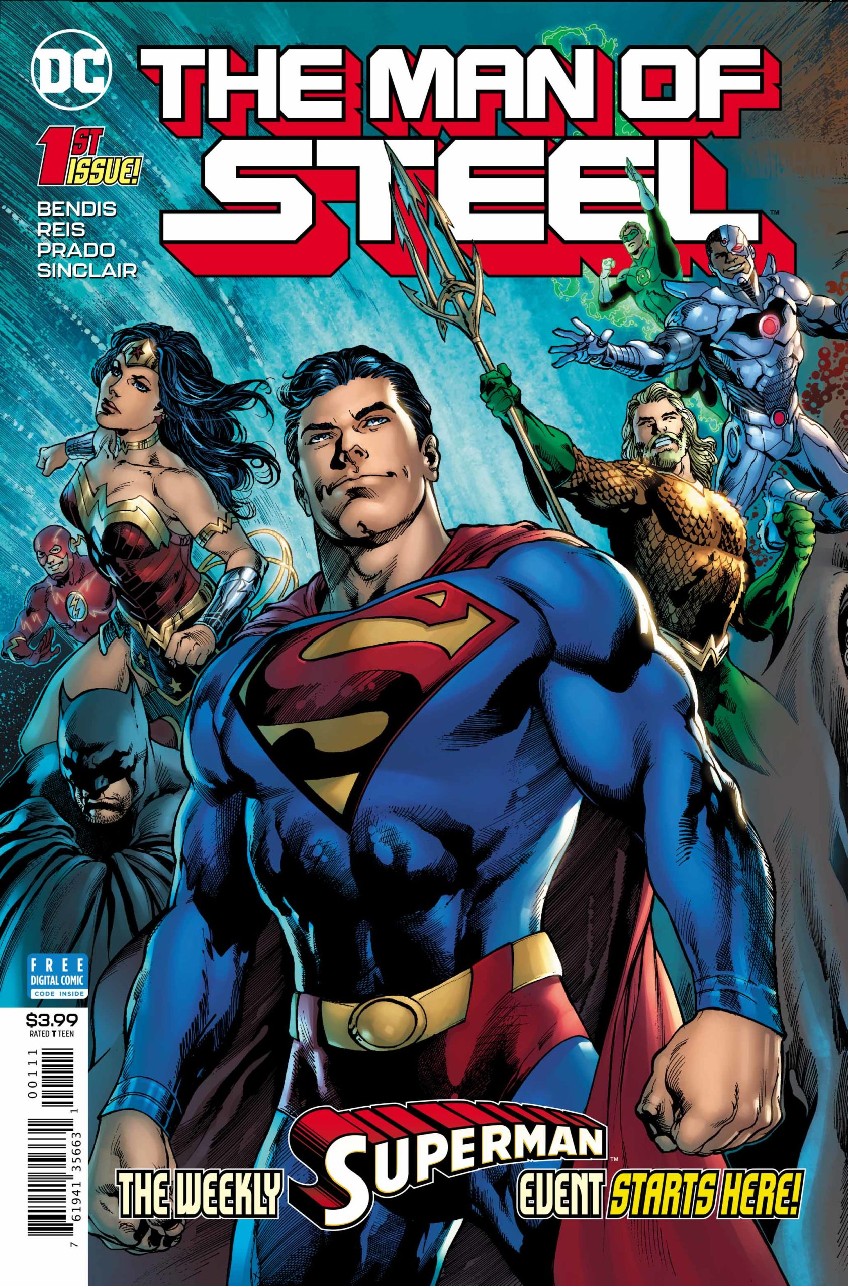 Superman The Man of Steel Issue #1 Cover
