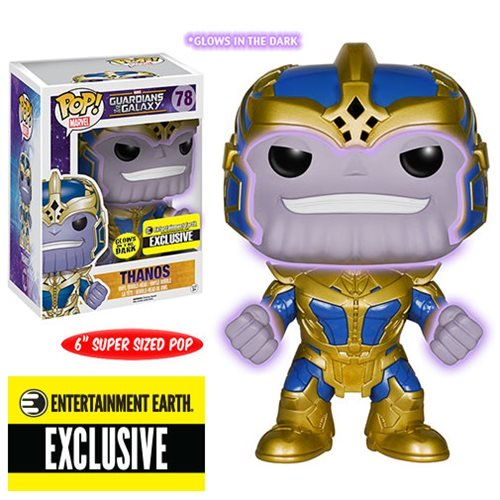 Thanos Pop Figure - Guardians of the Galaxy Thanos Glow-in-the-Dark 6-Inch Pop! Vinyl Bobble Head