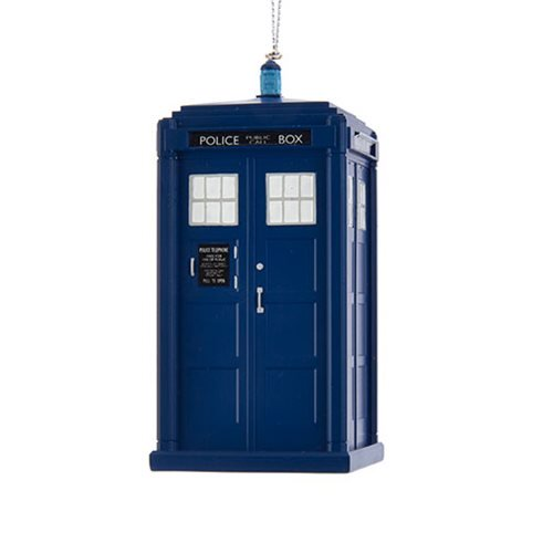 Doctor Who TARDIS Christmas ornament - 13th Doctor Tardis 4 1/4-inch Christmas ornament/hanger