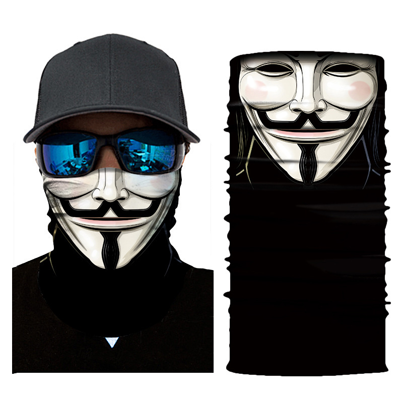Anonymous Face Mask - Anonymous (Guy Fawkes) Gaiter Balaclava Face Tube Mask