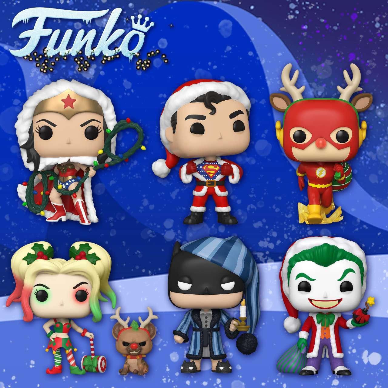 Surprise! Funko reveals festive DC Comics superheroes for Christmas 2020.