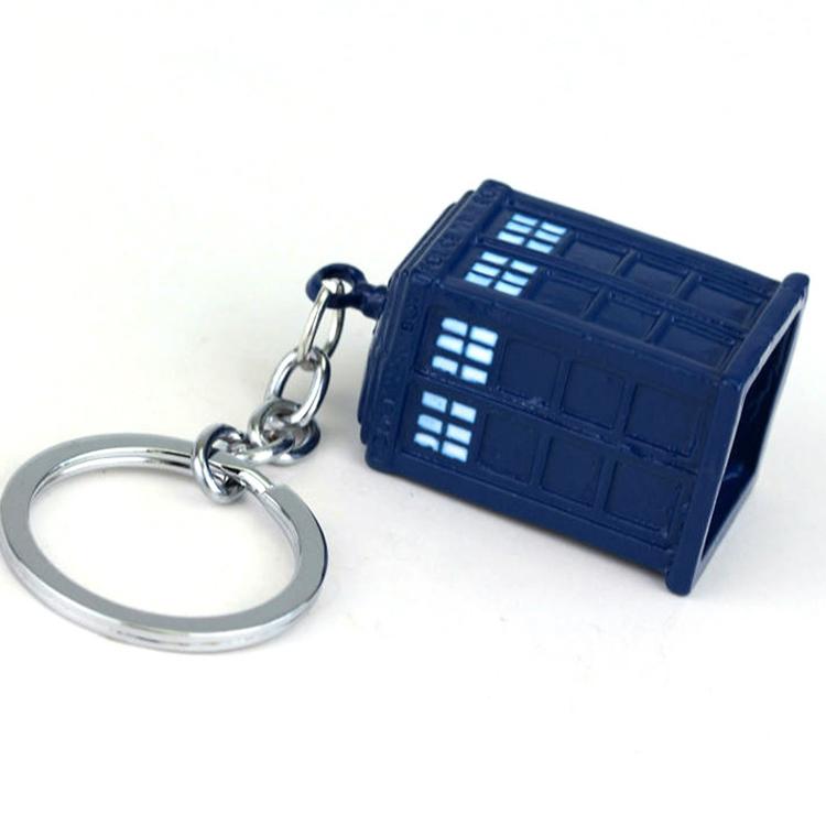 Tardis Keychain - Cast Metal Doctor Who Tardis Keychain