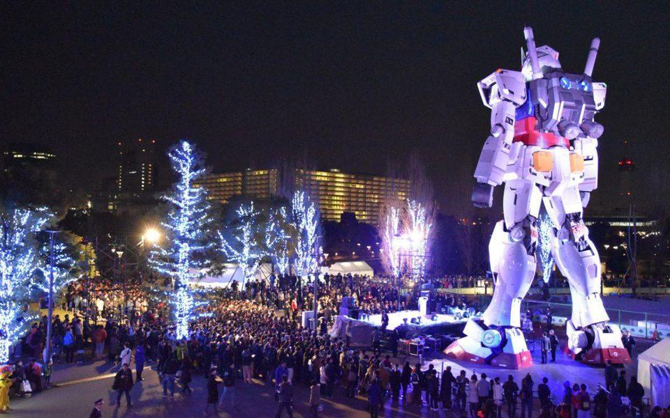 Gundam statue in Tokyo, Japan