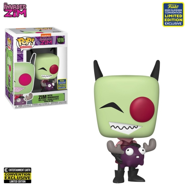 Invader Zim Funko Pop with Minimoose Pop! Vinyl Figure - 2020 Convention Exclusive Limited Edition