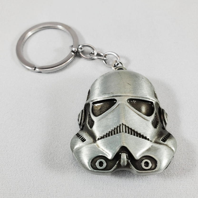 stormtrooper keychain solid pewter metal star wars keychain