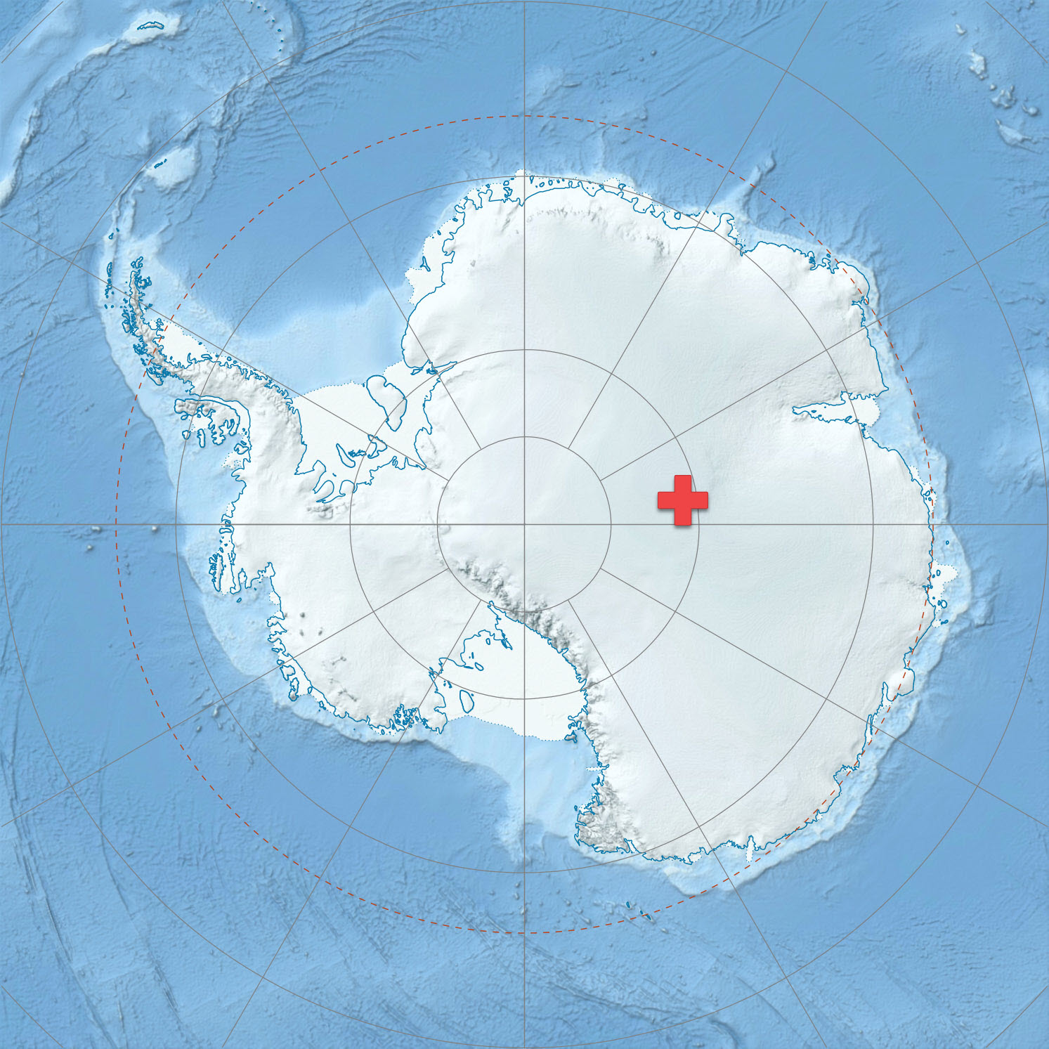 Location of Dome A in Antarctica