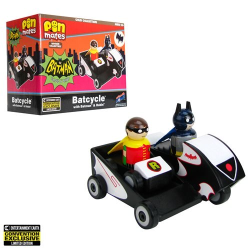 Exclusive! Batman Classic TV Series Batcycle - Batman and Robin Wooden Motorcycle