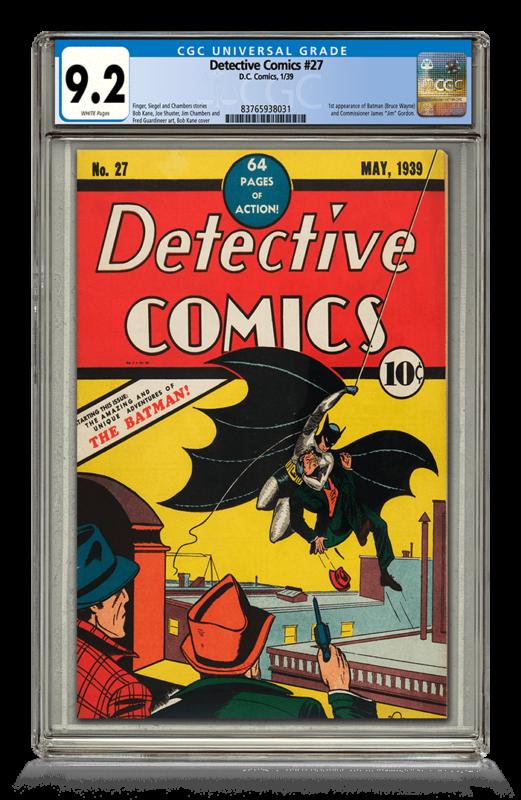 Detective Comics #27 9.2 CGS Universal Grade