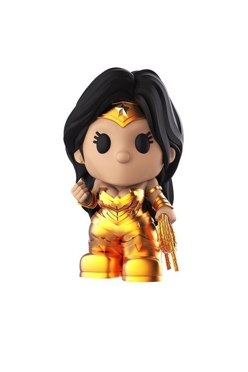 Ooshies DC Figures - 4-inch Ooshies Golden Wonder Woman