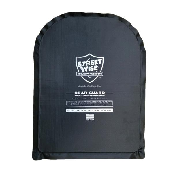 Streetwise 11 x 14 flexible ballistic backpack insert - hi-tech bulletproof backpack shield