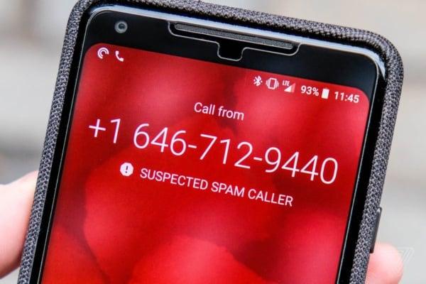 Google spam block via phone app